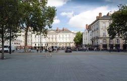 Place du Bouffay en Nantes foto de archivo