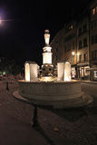 Place du Bourg de Four in Geneva by night Stock Image