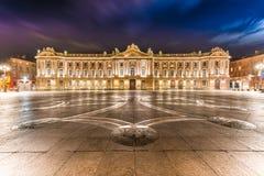 Place du Capitole在图卢兹,法国 库存图片