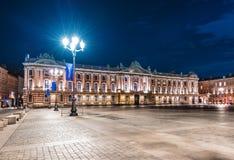 Place du Capitole在图卢兹,法国 库存照片