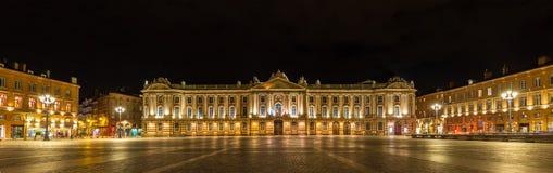 Place du Capitole Tolosa - in Francia Immagini Stock Libere da Diritti