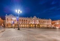Place du Capitole a Tolosa, Francia Fotografia Stock