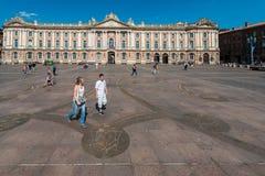Place du Capitole a Tolosa, Francia Fotografie Stock Libere da Diritti