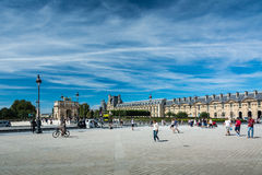 The Place du Carrousel and the Arc de Triomphe du Carrousel Royalty Free Stock Image