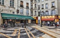 Place du Change- Aviñón, Francia Fotos de archivo libres de regalías