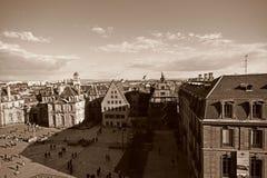 Place du Chateau和它的周围 图库摄影