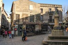 Place du chateau. Carcassonne. France Royalty Free Stock Photos