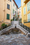 Place du Conseil in Villefranche-sur-Mer Royalty Free Stock Photo