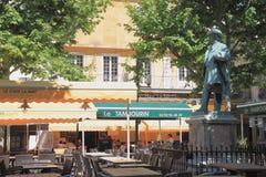 Place du Forum,阿尔勒,法国 图库摄影