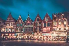 Place du marché à Bruges, Belgique photographie stock