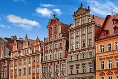 Place du marché central à Wroclaw Pologne avec de vieilles maisons colorées Concept de vacances de voyage photos libres de droits