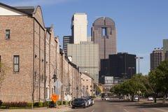Place du marché d'agriculteurs en Dallas Downtown image libre de droits