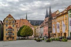 Place du marché dans Cheb, République Tchèque Images libres de droits