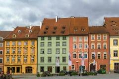 Place du marché dans Cheb, République Tchèque Photo stock