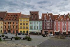 Place du marché dans Cheb, République Tchèque Photographie stock libre de droits