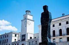 Place du marché dans la partie antique de Brescia photo libre de droits