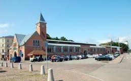 Place du marché dans Vyborg Photos libres de droits