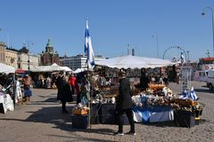 Place du marché de Helsinki Image stock