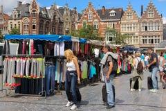Place du marché de vendredi gand belgium Photographie stock