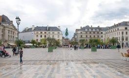 Place du Martroi,奥尔良-法国的大广场 免版税库存图片