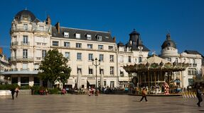 Place du Martroi with carousel, Orleans