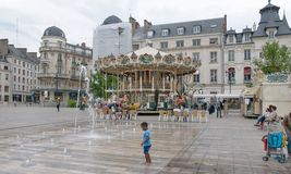 Place du Martroi, the main square of Orleans - France Stock Images