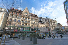 Place du Molard en Ginebra Imagen de archivo