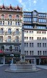 Place du Molard en Ginebra Fotos de archivo