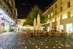Place du Molard in Genève, Zwitserland stock foto