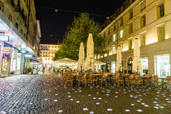 Place du Molard in Geneva, Switzerland Stock Photo