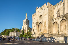 Place du Palais of Avignon Royalty Free Stock Images
