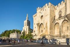 Place du Palais d'Avignon Images libres de droits