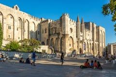 Place du Palais d'Avignon photo libre de droits