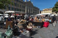 Place du Palais de正义古董市场 图库摄影