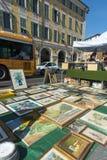 Place du Palais de正义古董艺术品绘画 免版税库存图片