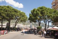 Place du Palais, Monaco. stock images
