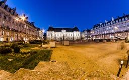 Place du Parlement De la Bretagne - Rennes Images stock