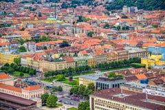 Place du Roi Tomislav à Zagreb. Croatie image stock