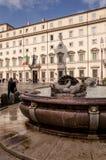 Place du ` s de palais de Chigi à Rome Photographie stock