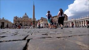 Place du ` s de Saint Pierre à Rome banque de vidéos