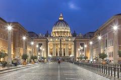 Place du ` s de St Peter, Vatican, Rome, Italie images stock