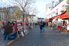Place du Tertre Foto de archivo libre de regalías