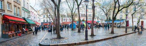 Place du Tertre 免版税库存图片