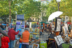 Place du Tertre Artists Fotos de archivo libres de regalías