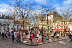 The Place du Tertre Royalty Free Stock Image