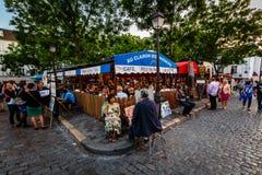Place du Tertre en Montmartre, París, Francia Imágenes de archivo libres de regalías