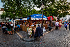 Place du Tertre in Montmartre, Paris, France Royalty Free Stock Images
