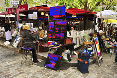 Place du Tertre in Paris, France Royalty Free Stock Photos