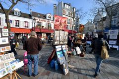 Place du Tertre, Paris Royalty Free Stock Photos