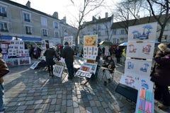 Place du Tertre, Paris Royalty Free Stock Photo